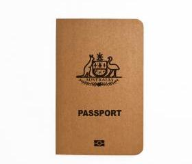 Australia Passport - Handmade Notebook - Patriotic