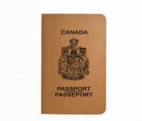 Canada Passport - Handmade Notebook - Patriotic