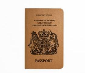 UK Passport - Handmade Notebook - Patriotic