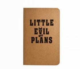 Little Evil Plans - Handmade Notebook