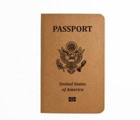 United States Passport - Handmade Notebook - Patriotic